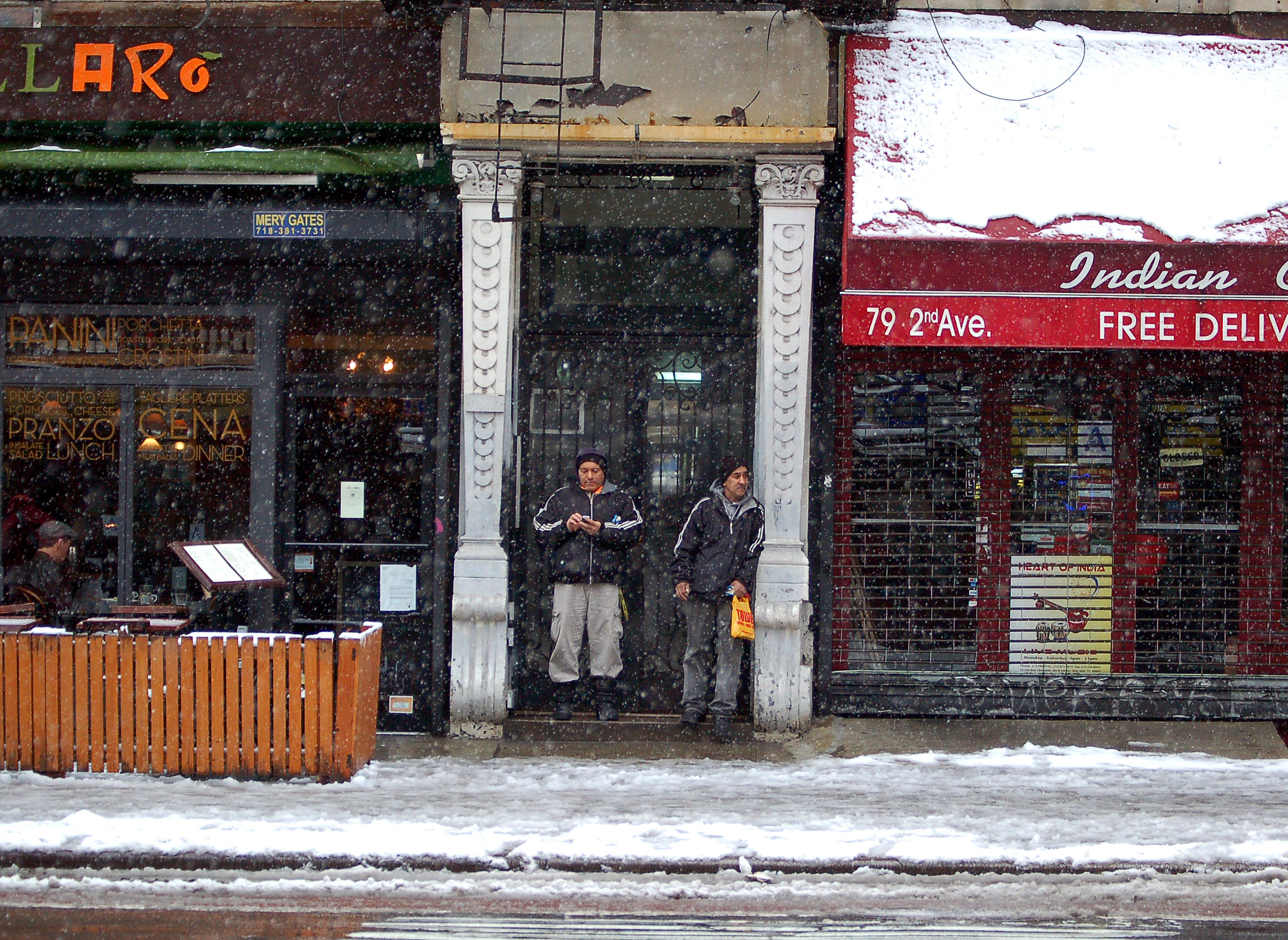 Snow storm on 2nd Ave
