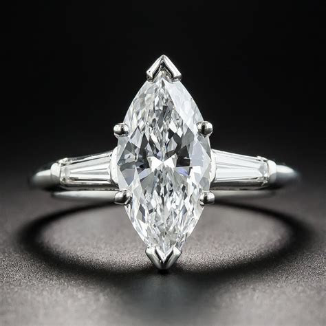 2.07 Marquise Diamond Engagement Ring   GIA D VS2