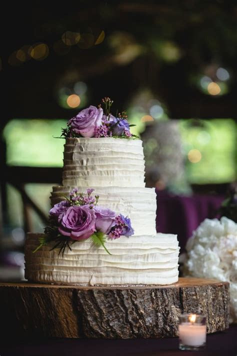 rustic tree stumps wedding cakes   country wedding