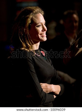 Angelina Jolie At The European Premiere Of 'Beowulf' At The Vue Cinema On