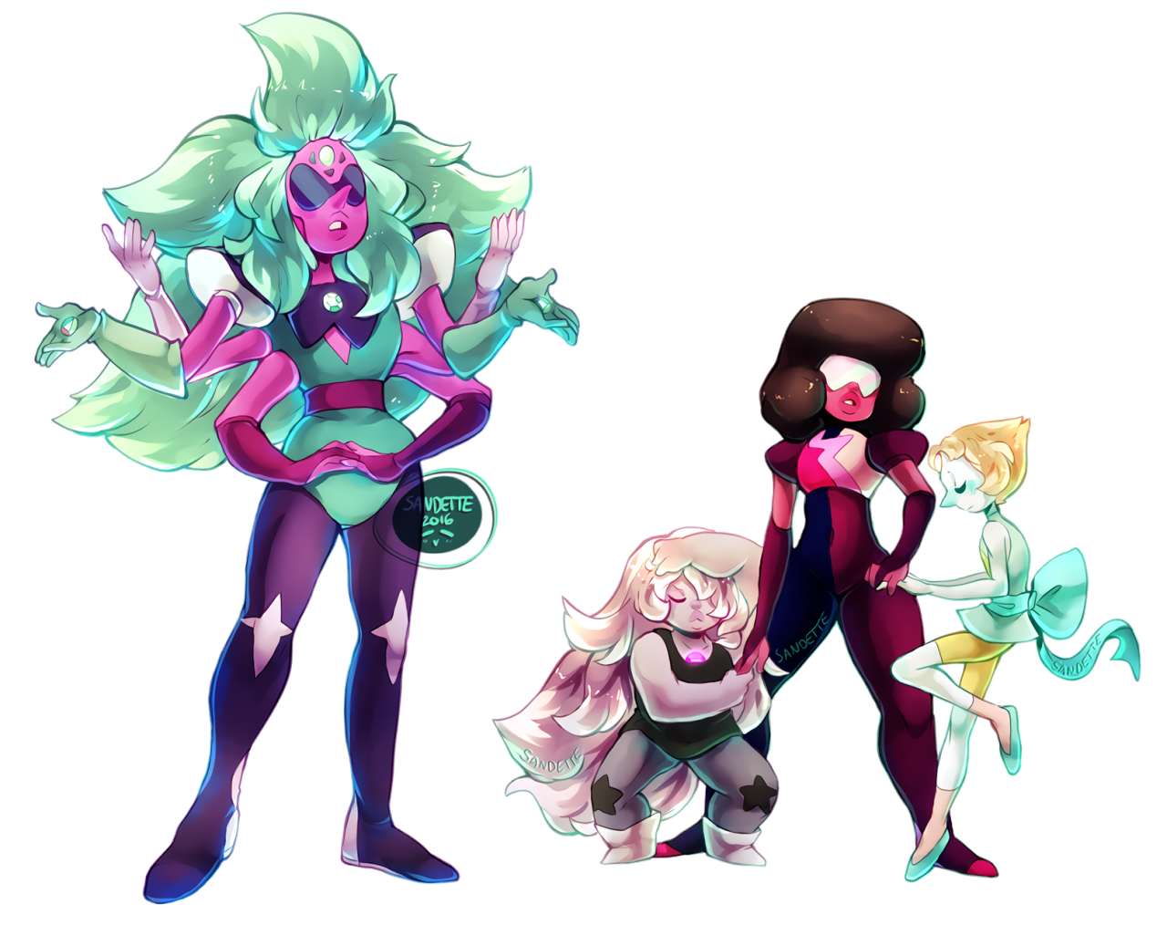 Cool mom ALEXANDRITE. I really like her. Didn't expect her to be this dificult or fun to draw! 8> You can get these as stickers or other things on my Redbubble!