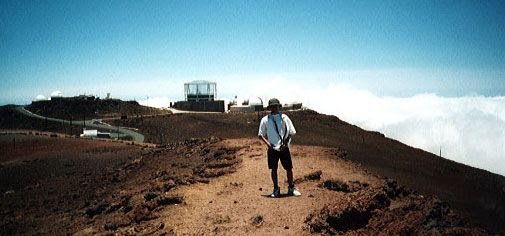 Posing for a photo atop the Haleakala volcanic summit—which is home to the Pan-STARRS telescope that discovered A/2017 U1—during a trip to Maui, Hawaii, in May of 2000.