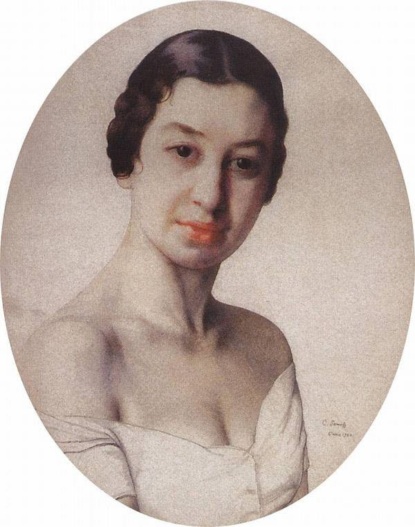 Портрет Б.Е.Поповой (Париж). 1926