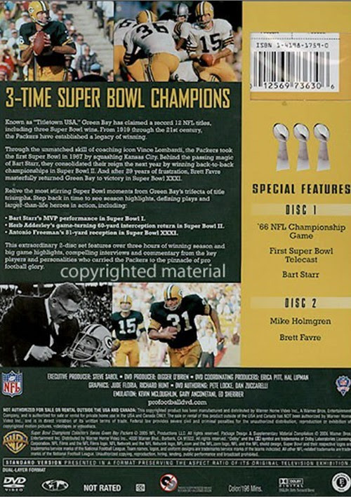 NFL Super Bowl Collection: Green Bay Packers DVD 2005  DVD Empire