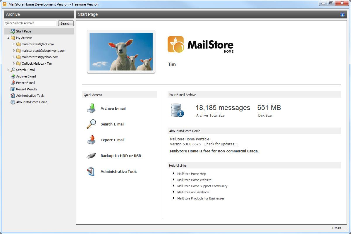 برنامج مجانى لحفظ وعرض رسائل البريد الالكترونى من اكثر من مصدر وتخزينها بجهازك MailStore Home 8.0.5