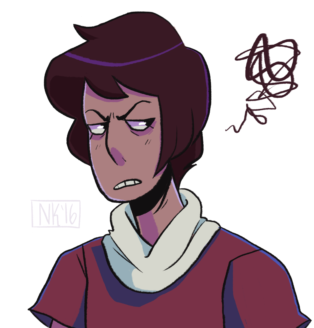 sorry this is all i can muster rn but…. he's back…. he has a canon color scheme… oh today is so good