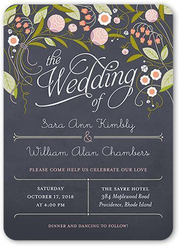 Forever Love 5x7 Wedding Invitations   Shutterfly
