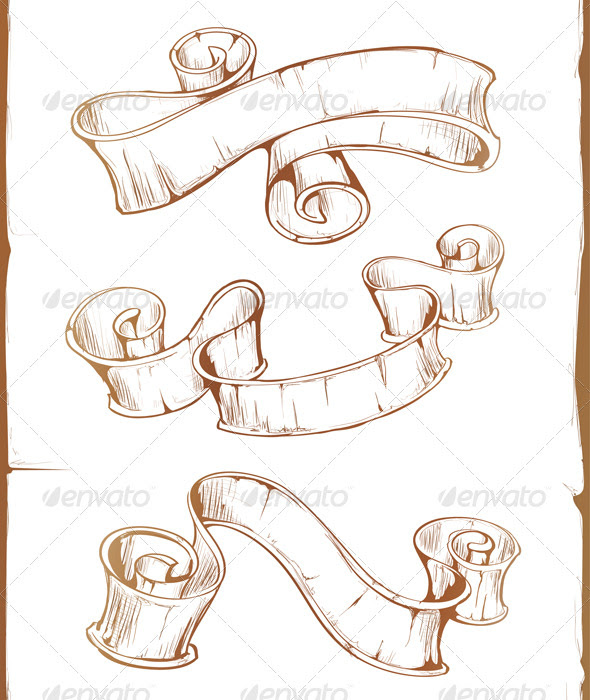 Ribbon Tattoo Drawing At Getdrawingscom Free For Personal Use