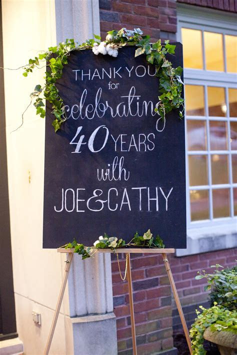my parents' 40th anniversary party ? Magnolia Thymes