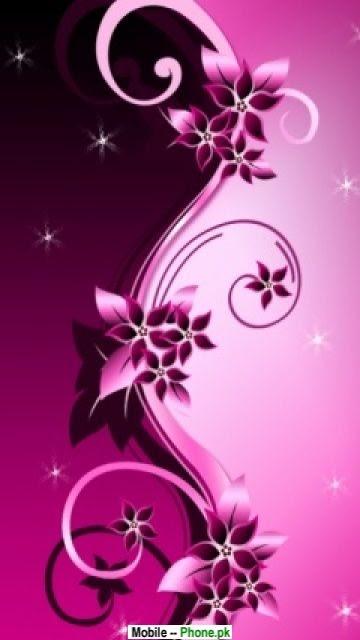 Pink flower backgrounds Mobile Wallpaper Details
