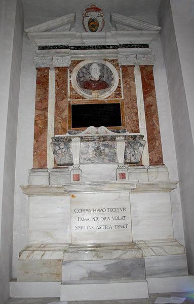 Fil: 3203 - Roma - S. Maria degli Angeli - Tomba kort.  Paolo Parisi - Foto Giovanni Dall'Orto 18-juni-2007.jpg