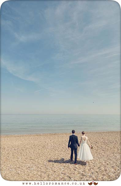 Large skies at Dunwich wedding - www.helloromance.co.uk