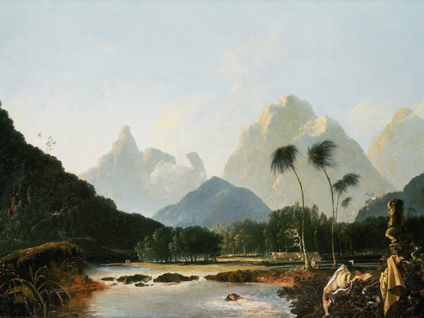William Hodges, Tahiti rivisitata, 1776 olio su tela, 92,7 x 138,4 cm