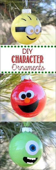 Glass Ball Character Ornaments | Adorable DIY Ornaments You Can Make With The Kids
