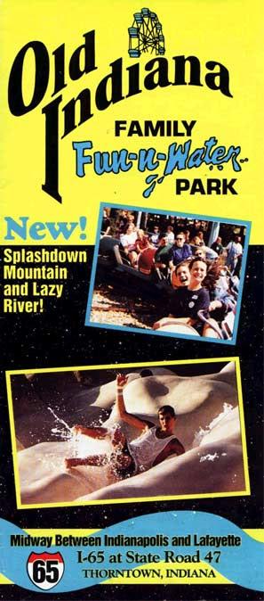 Theme Park Brochures Old Indiana Fun Park Theme Park