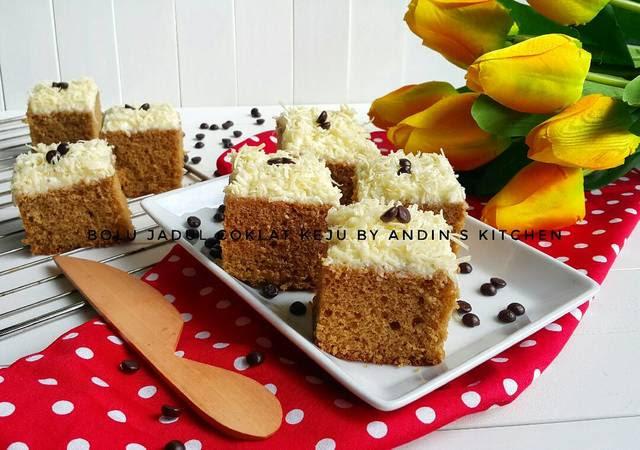 Resep Bolu Jadul Telur 6: Bolu Jadul Coklat Keju By Andin's Kitchen