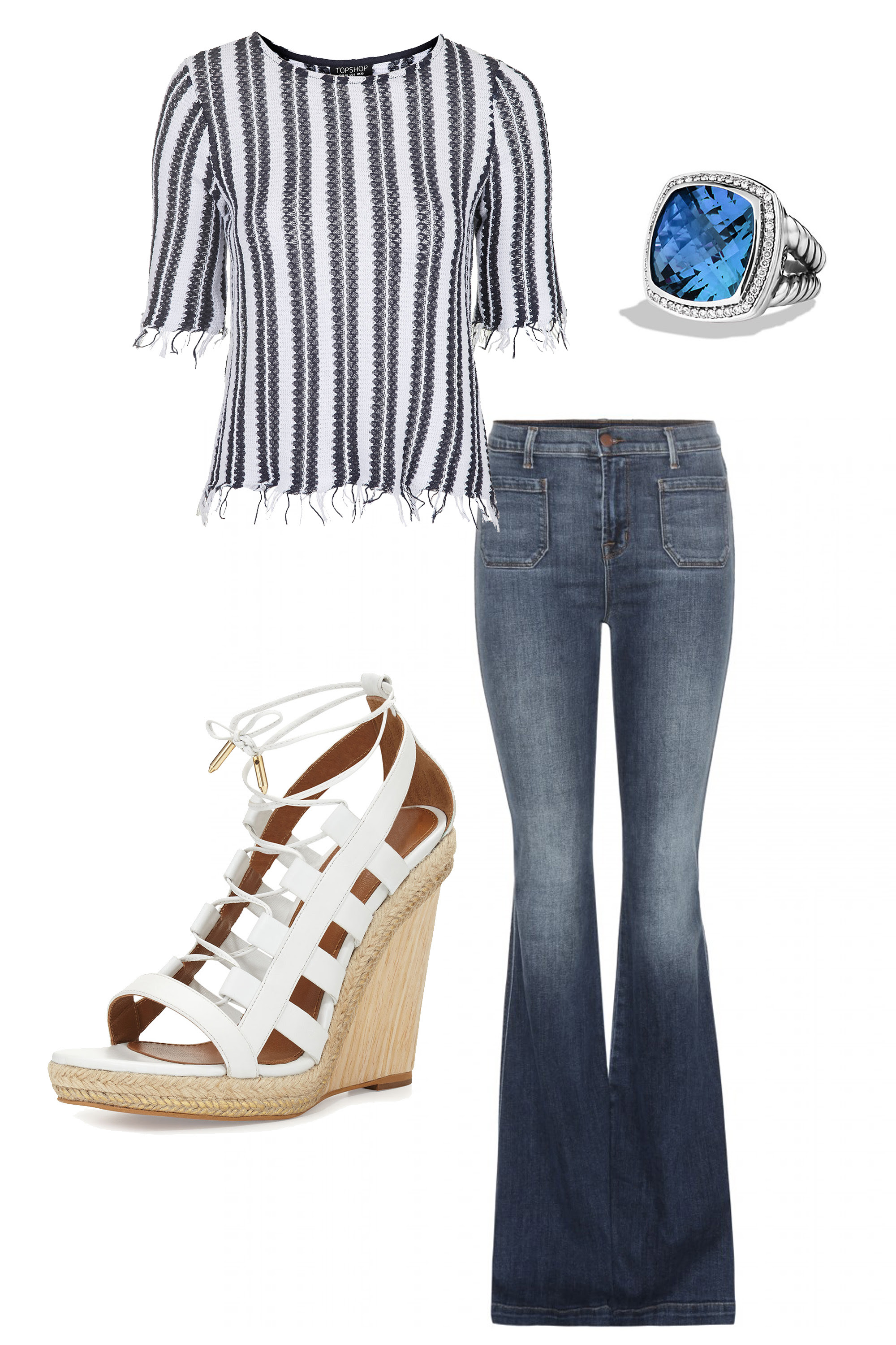 5 high low denim outfits  diamonds and denim combos to