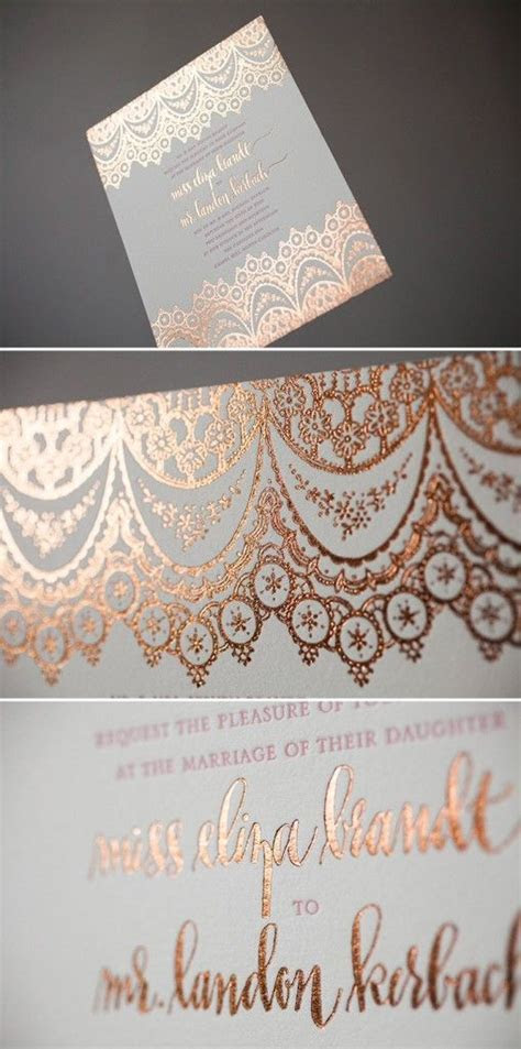 25  best ideas about Gold wedding invitations on Pinterest