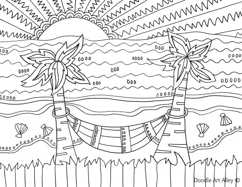 Printable Summer Coloring Pages For Adults - Coloring And Drawing