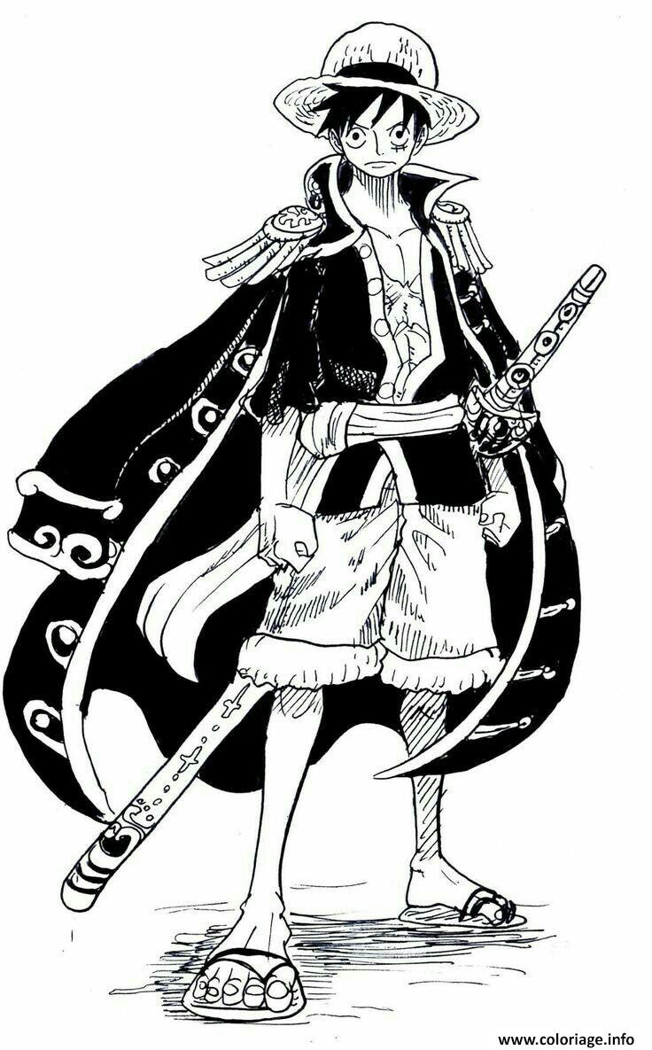 Coloriage Monkey D Luffy Cool Outfit e Piece Manga Dessin  Imprimer