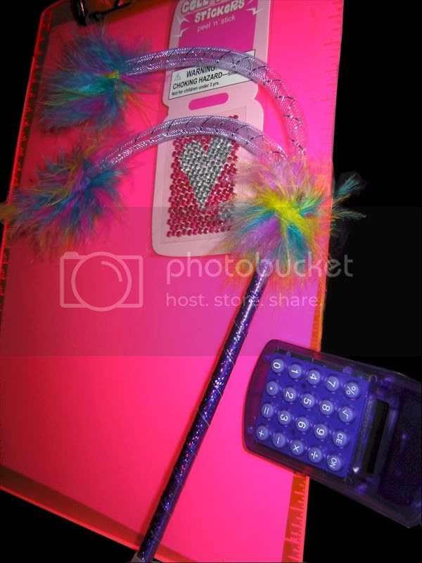 Cell Phone Gems, Funky Pen, Clip-on Calc