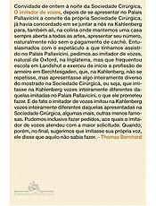 """O Imitador de Vozes"", do escritor e dramaturgo austríaco  Thomas Bernhard"