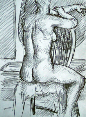 life drawing nude on chair