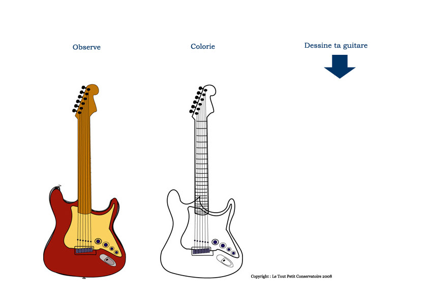 Guitare Electrique Eveil Musical Dessin Coloriage De La Guitare