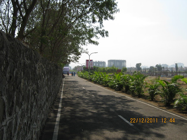 Internal Road or D P Road to the site office of Kumar Piccadilly, Wakad, Pune 411 057