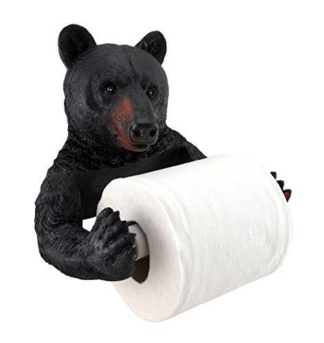 Black Bear Lodge Bathroom Decor Toilet Paper Holder New | eBay