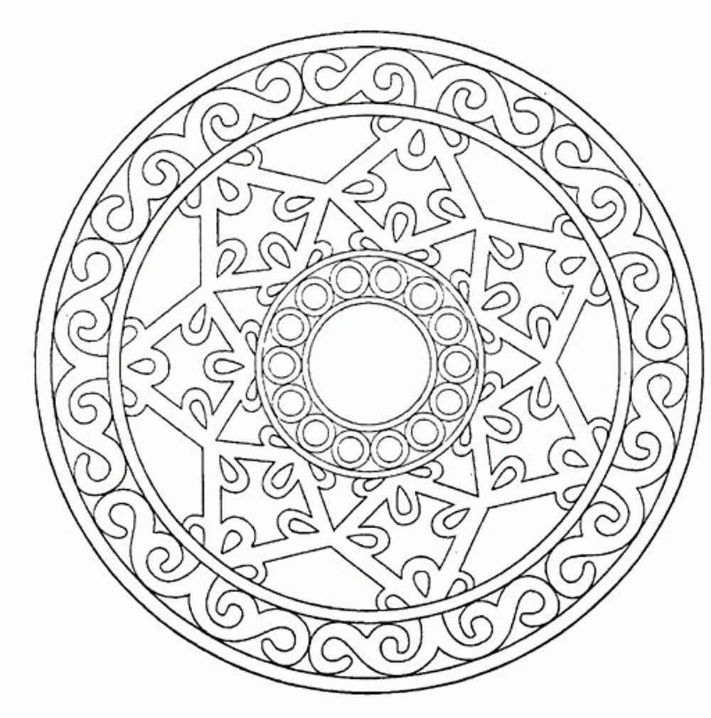 Mandala Adult Coloring Pages Printable - Coloring Home
