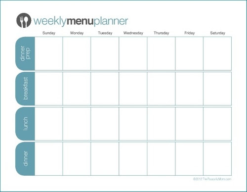 NEW! Customizable Weekly Menu Planners - The Peaceful Mom