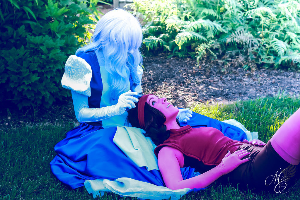 """""""So, what was it? The answer? """" • Sapphire: thornprick/somaperies • Ruby: fictionaleyes • Photographer: Midday Enchantments Photography • Ruby's gem: HamsterParade (Stay tuned for more Sapphire and..."""
