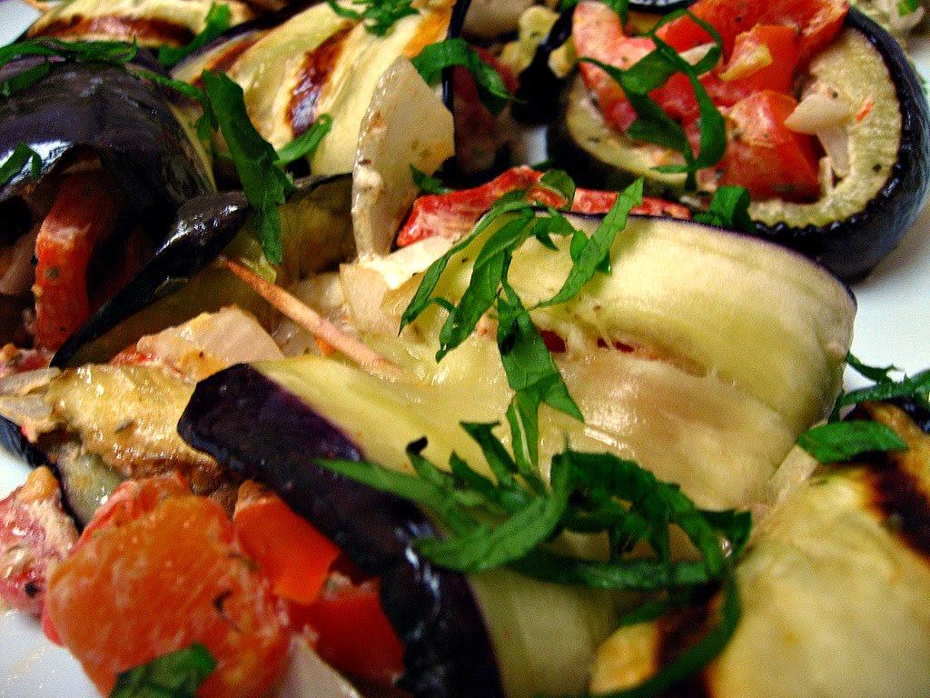 Eggplant roll-ups