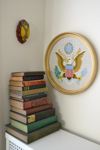 the seal, hangin' with my books & owl
