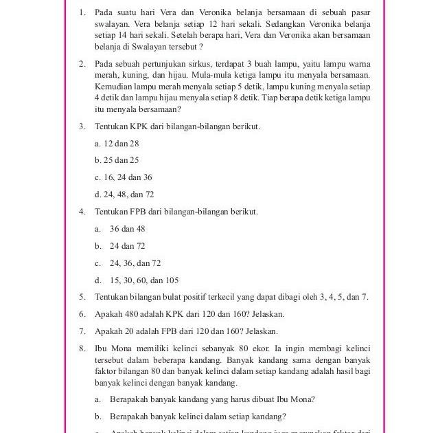Kunci Jawaban Buku Paket Matematika Kelas 7 Semester 1 Ilmusosial Id