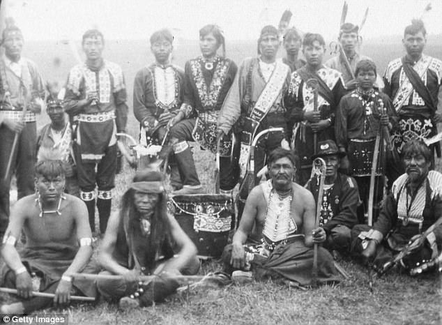 The containment of Indigenous Americans in camps was supposed to erase their identity, with numbers sometimes replacing names. Pictured: The Sioux Council of New York
