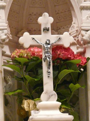 Crucifix and Hyacinths
