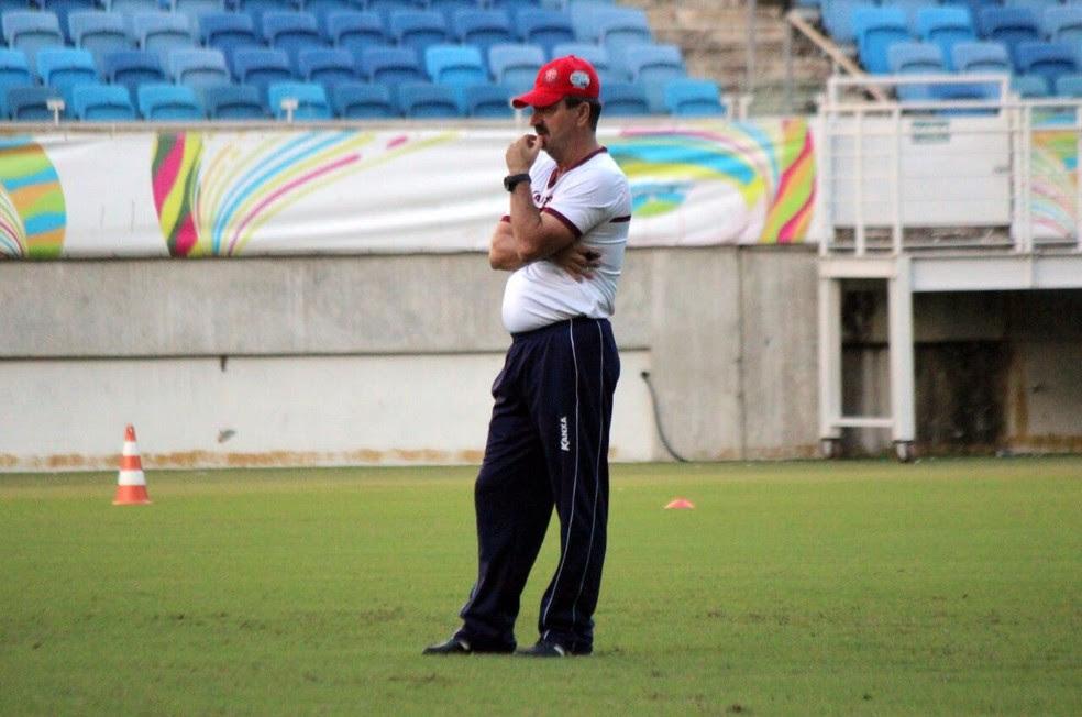 Leandro Campos observou cobranças de pênaltis dos atletas na Arena das Dunas (Foto: Diego Simonetti/Blog do Major)