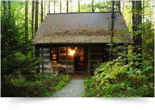 Blue Cabin in Hocking Hills, Ohio - Old Man's Cave