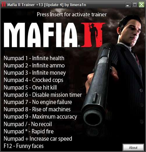 <b>Cheat</b> for <b>mafia 2</b> pc