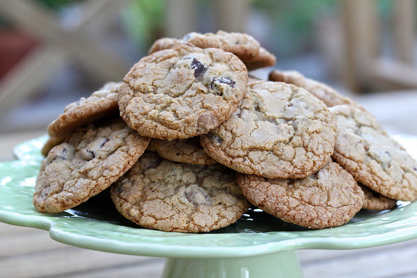 Chocolate Cappuccino Toffee Chip Cookies from Karen's Kitchen Stories