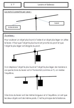 Trace écrite sur les leviers et les balances