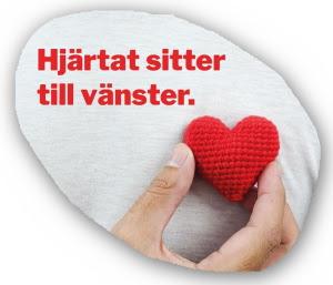Hjärtat sitter till vänster