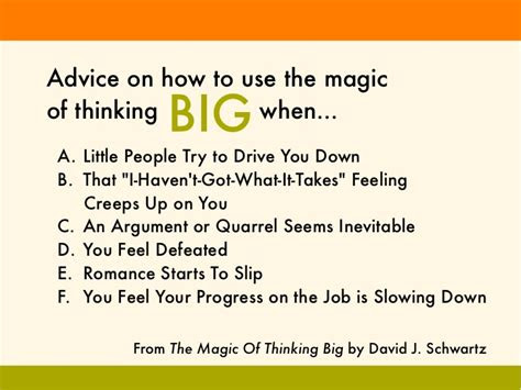 Magic Thinking Big Quotes