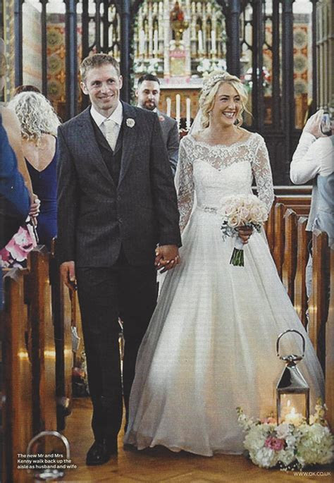 Laura Trott & Jason Kenny's wedding on the front of OK