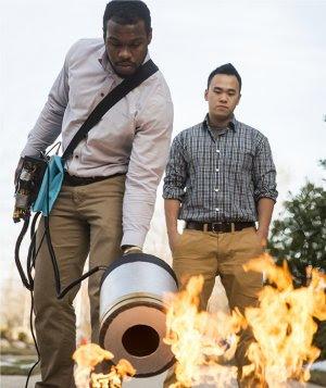Extintor sônico apagar incêndio com alto-falante