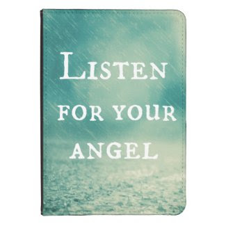 Inspirational Angel Quote Kindle Touch Cover