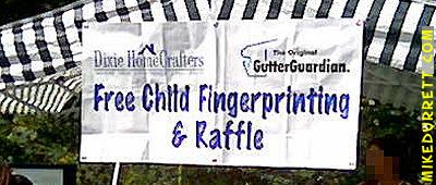 Banner: FREE CHILD FINGERPRINTING & RAFFLE