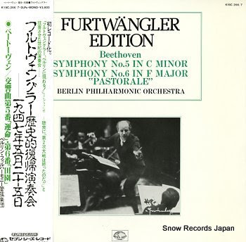 FURTWANGLER, WILHELM beethoven; symphonie no.5 in c minor